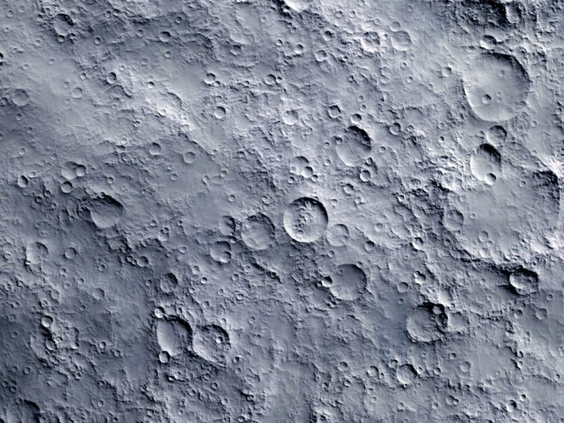 Closeup of moon surface texture