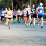 陸上競技、マラソンと100m走行