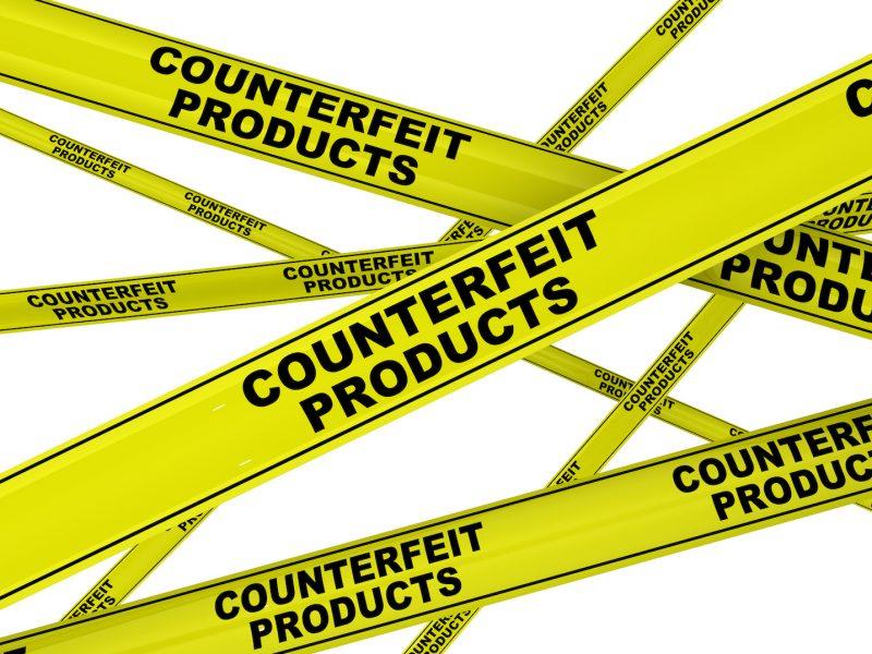 Контрафактная продукция (Counterfeit products). Желтая оградительная лента