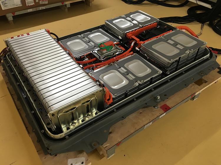 工場情報_日産_EVの使用済みリチウムイオンバッテリー