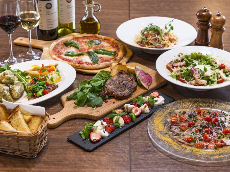 イタリアンレストランのコース料理