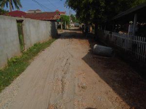 縫製工場の前の道を整備しました。_01