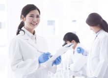 Asian female researcher