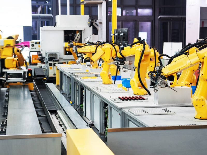 artificial intelligence equipment in modern factory