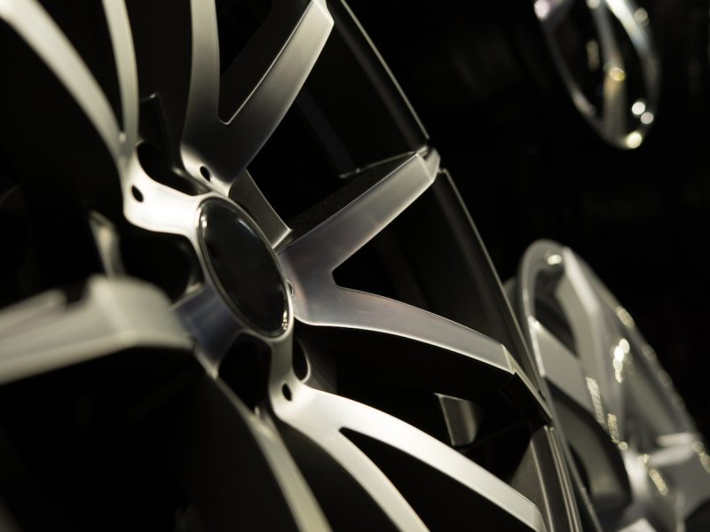 Alloy rims closeup