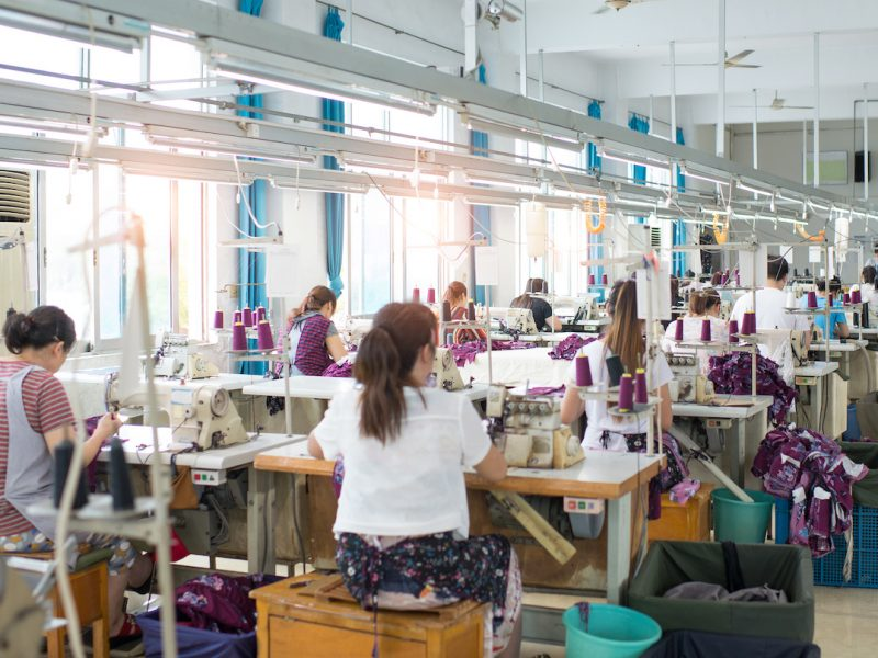 Clothing factories make costumes