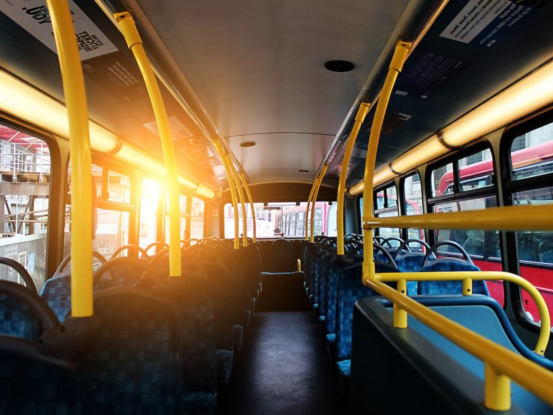 city vehicle bus empty seat