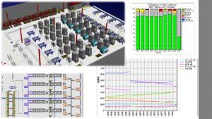 デジタルツインを活用した、生産シミュレーションの例