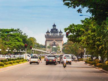 Victory Gate Patuxai, Vientiane, Laos, Southeast Asia