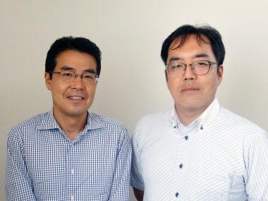 ピアブ・ジャパン 吉江和幸代表取締役(左)と岩田誠エリアセールスマネージャー