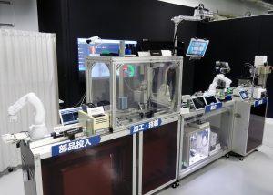 NEC DX Factory共創スペースに設けた先端デモライン