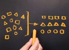 Hand drawing geometry to categorize on chalkboard