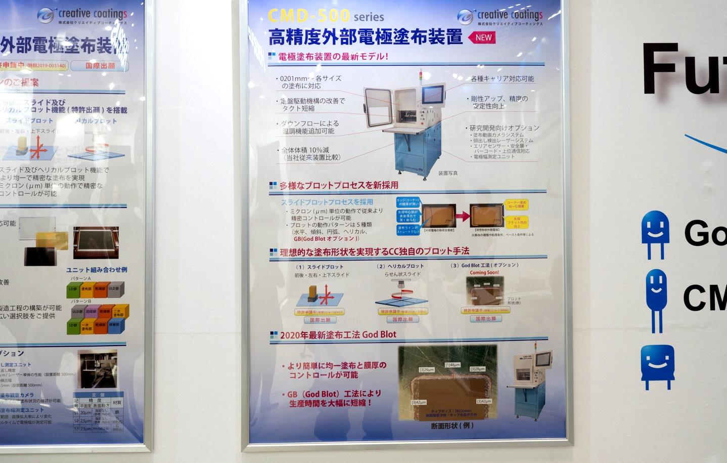高精度外部電極塗布装置(パネル)