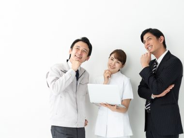 portrait of asian business people on white background