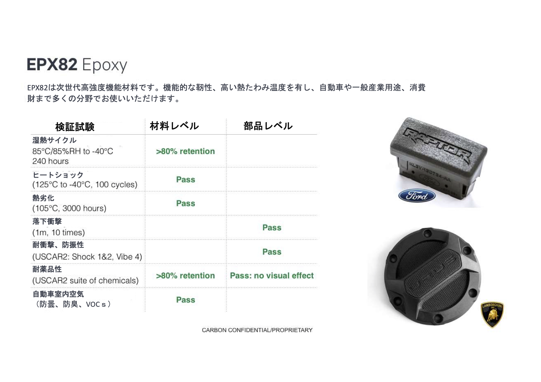 高強度機能材料 EPX82 Epoxyの事例